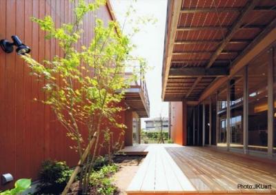 二世帯住宅の空間のつながり1(撮影:JIKUart) (HOUSE O+U)