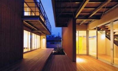HOUSE O+U (二世帯住宅の空間のつながり2(撮影:JIKUart))