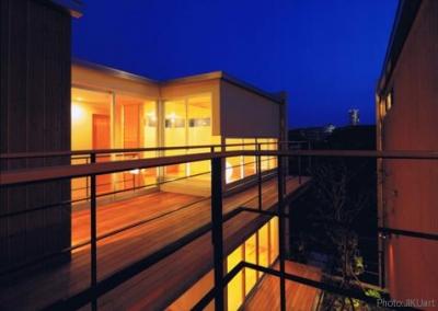 二世帯住宅の空間のつながり4(撮影:JIKUart) (HOUSE O+U)