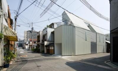 H house (狭小地の住宅) (外観)