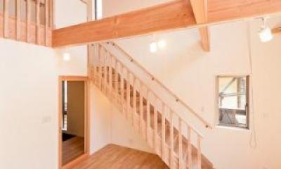 どんぐりハウス (オープンな階段)