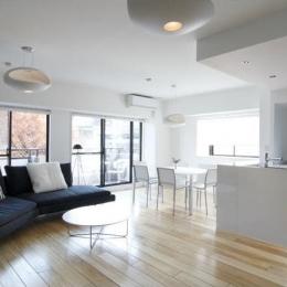 シンプルクールな居住空間 (白を基調としたシンプルクールな家)