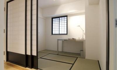 白を基調としたシンプルクールな家 (和室)