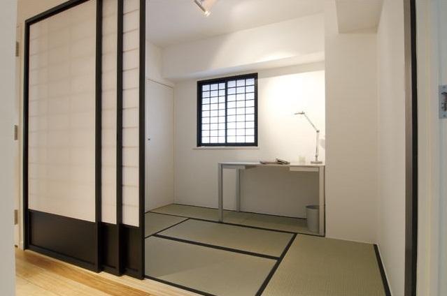 白を基調としたシンプルクールな家の写真 和室