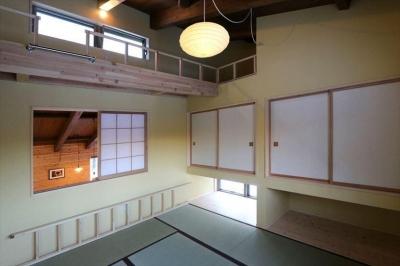 遊び心のある和室 (薪ストーブのある別荘)