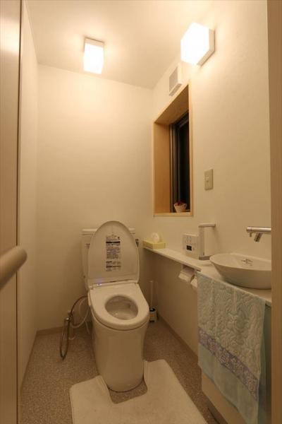 薪ストーブのある別荘 (トイレ)