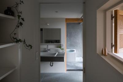 奈坪の家 (洗面室)
