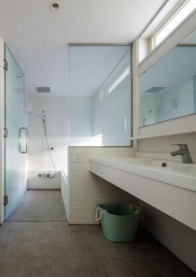 太田の家 (洗面・浴室)
