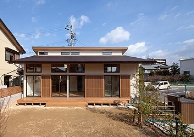 植田の家 VI (庭からの外観-open(撮影:車田写真事務所))