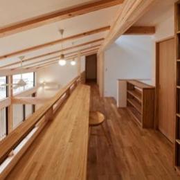 植田の家 VI (2階のスタディコーナー(撮影:車田写真事務所))