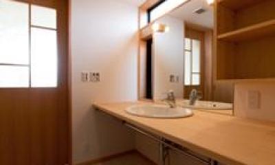 洗面スペース(撮影:車田写真事務所)|植田の家 VI