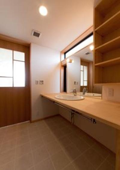 洗面スペース(撮影:車田写真事務所) (植田の家 VI)