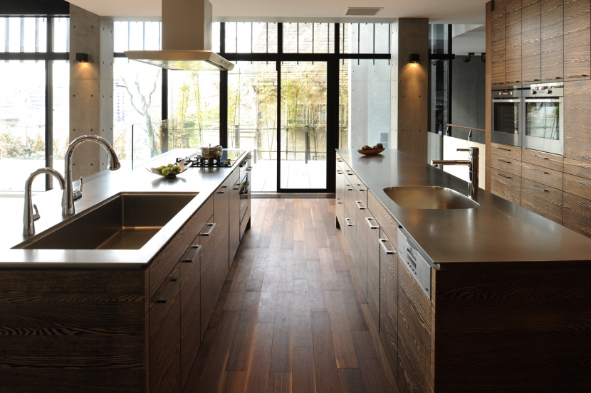 キッチン事例:わが家のダブルアイランド(CUCINA キッチン 実例)