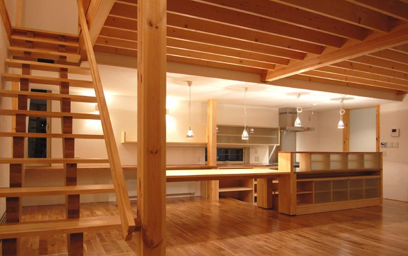 Bookshelfの部屋 本棚のあるリビングダイニング1