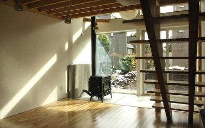 薪ストーブのある土間 (Bookshelf)