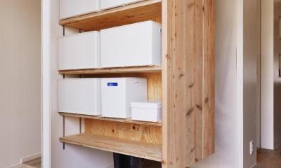 O邸・間取りを再構築!デッドスペースを活用した開放的な住まい (玄関2)