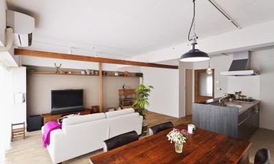 O邸・間取りを再構築!デッドスペースを活用した開放的な住まい (広々LDK)