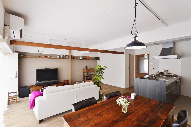 O邸・間取りを再構築!デッドスペースを活用した開放的な住まいの写真 広々LDK