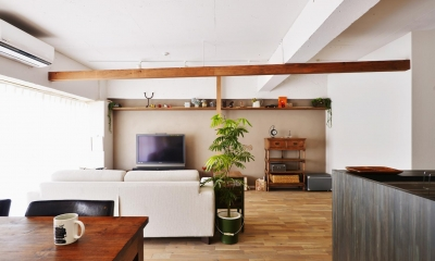 O邸・間取りを再構築!デッドスペースを活用した開放的な住まい (LDK-1)