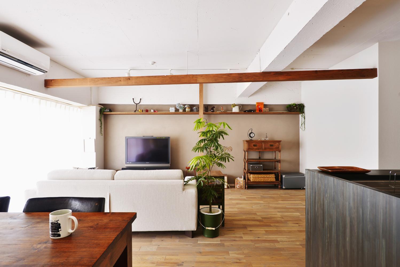 O邸・間取りを再構築!デッドスペースを活用した開放的な住まいの写真 LDK-1