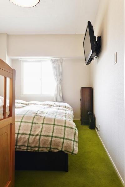 ベッドルーム (O邸・間取りを再構築!デッドスペースを活用した開放的な住まい)