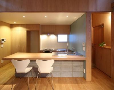 鷺宮の家 (ダイニングキッチン)