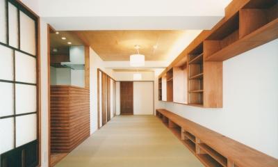 旅館のくつろぎを自宅で感じる家:『東京都府中市M邸』 (20枚の畳の部屋)