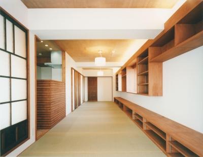 20枚の畳の部屋 (旅館のくつろぎを自宅で感じる家:『東京都府中市M邸』)