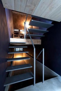 1.8M幅の家 (階段1(撮影:傍島利浩))