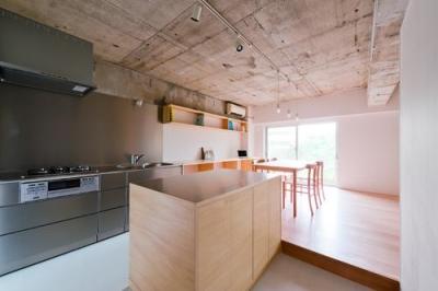 キッチンからダイニングを見る(撮影:RYOHEI HAMADA) (house TA)