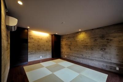 書斎 (T邸-古都に建つ桜と池を望む家-奈良)