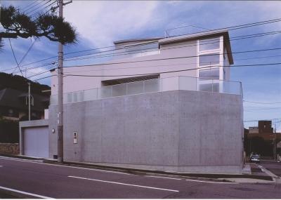 S邸-家の中に外を内包した家-神戸 (外観)