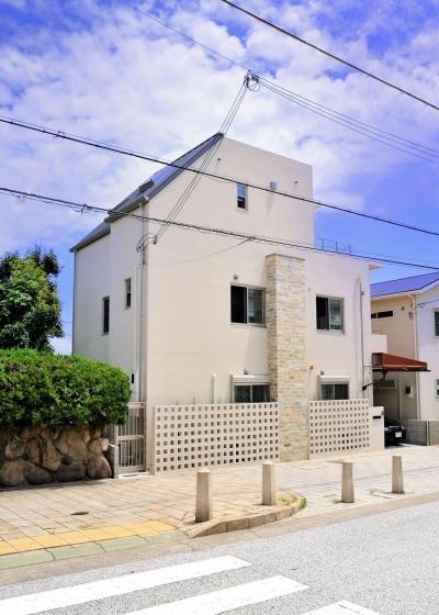 T邸-RC造で地震に強く外断熱の家-神戸 (外観)