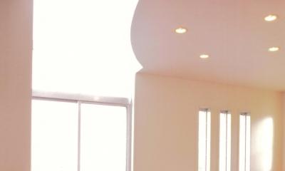 Y邸-眺望のよいのびやかな家-神戸 (リビング)