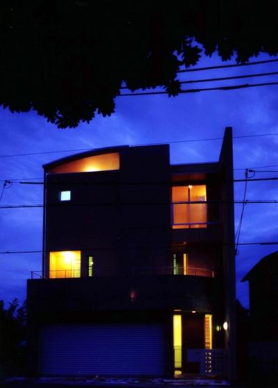 Y邸-眺望のよいのびやかな家-神戸 (外観夜景)