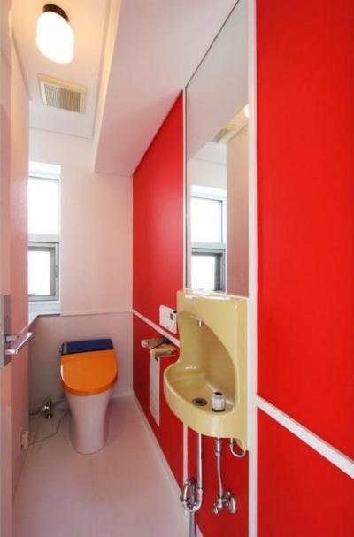 3階お子様用カラフルトイレ (大家族が住める家)