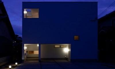 外観(夜間) 小倉の家