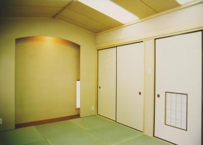 A邸和室 (H邸-親子三世帯で住むこだわりの家-芦屋)