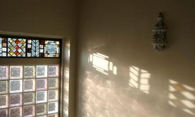 H邸-親子三世帯で住むこだわりの家-芦屋 (A邸階段室)