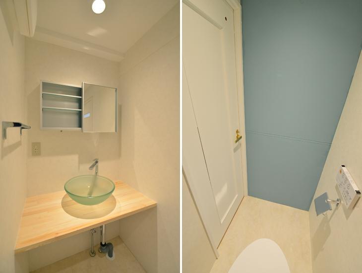 三大銘木ウォールナットの快適空間作り「Beach Style リノベーション」の部屋 洗面