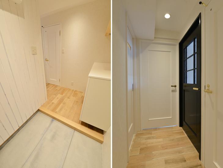 三大銘木ウォールナットの快適空間作り「Beach Style リノベーション」の部屋 玄関