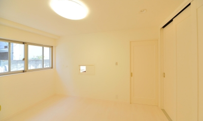 W邸-都心に建つ瀟洒な二世帯住宅-東京・神楽坂 (1F寝室)