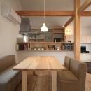青木昌則建築研究所の住宅事例「桜並木を眺める小さな家」