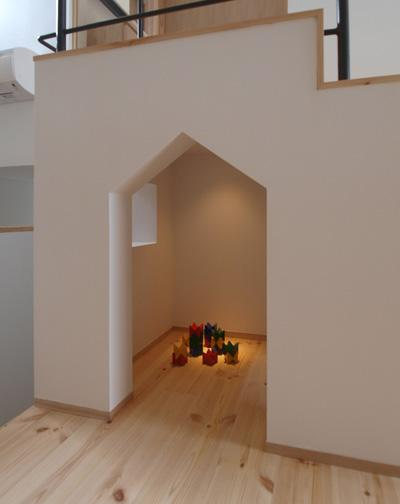 庭と暮らす家の部屋 キッズスペース