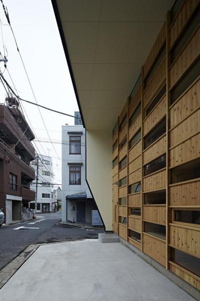 駒込・市松模様の家 (外観2)