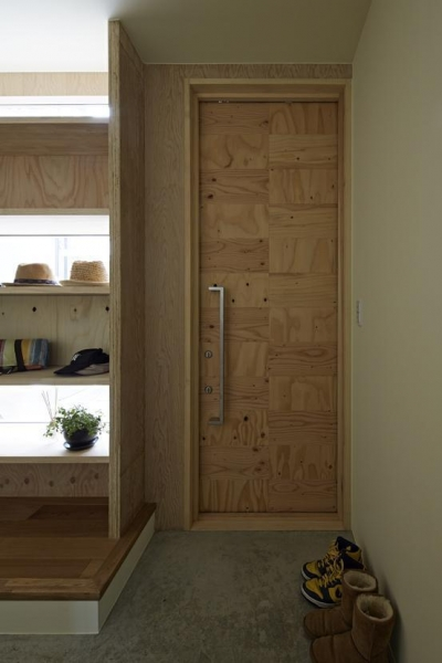 玄関1 (駒込・市松模様の家)