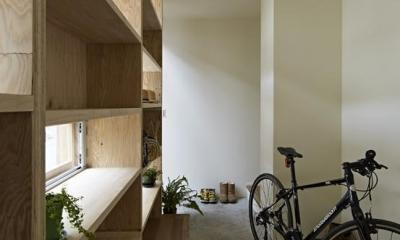 駒込・市松模様の家 (玄関2)