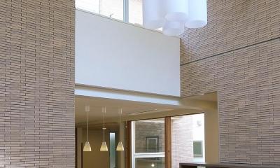 住宅密集地で陽光の恵みを受けるRC住宅|つばさの家 (ルーフテラスと視覚的に連続するリビング)