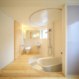 『ミニマムハウス』 9坪の敷地に建つアトリエ住宅 (バスルーム1(撮影:永石写真事務所))