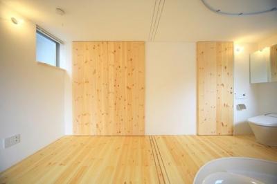 『ミニマムハウス』 9坪の敷地に建つアトリエ住宅 (バスルーム3(撮影:永石写真事務所))